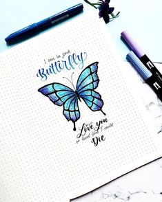 «I can be your butterfly, love you so hard that I could die Bullet Journal Inspo, Bullet Journal Ideas Pages, Beautiful Disaster, Bujo, Hand Lettering, Love You, Butterfly, Songs, Journalling