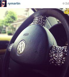 Bedazzled steering wheel.