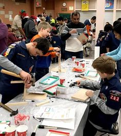 Cub Scouts and parents spent their evening building and painting toys and decorations to donate throughout the community..jpg