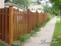 Wood-Privacy-Fence-Altboard-Scalloped - New fence around the back yard