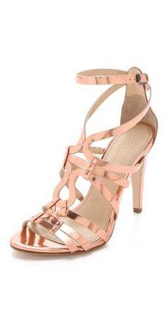 free shipping 7040e 41948 VERA WANG Copper Heels  SandalsHeels