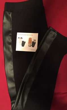 Black legging with faux leather trim. #stitchfixspring #personalstylist Want to…
