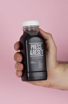 Press and Reset visual identity and packaging by Lo Siento Studio.