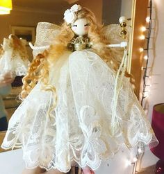 Fairy Crafts, Angel Crafts, Doll Crafts, Christmas Sewing, Handmade Christmas, Christmas Crafts, Christmas Tree Fairy, Needle Felting Tutorials, Felt Fairy