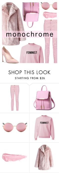 """Be Pink!!"" by keepfashion92 ❤ liked on Polyvore featuring Current/Elliott, Michael Kors, By Terry and Chicwish"