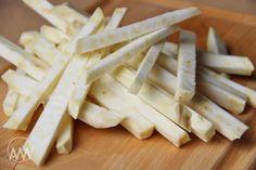 V kuchyni vždy otevřeno ...: Pečené celerové hranolky Feta, Dairy, Cheese