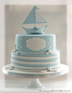 Nautical Christening Cake | Flickr - Photo Sharing!