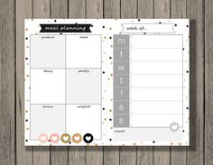 Meal Planning made easy, download once, use again and again! Printables by Chaos Made Simple.