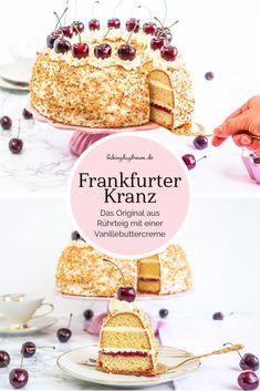 Frankfurter Kranz German crown cake with buttercream Recipe for an Simple Muffin Recipe, Healthy Muffin Recipes, Healthy Muffins, Donut Recipes, Cake Recipes, Baby Muffins, Crown Cake, Butter Tarts, Buttercream Recipe