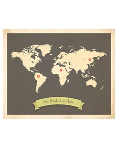 fresh words market my roots customizable world map by rebecca peragine
