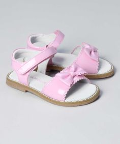 New L'Amour Girls N800 Scalloped Patent Bow Sandals | $24.00