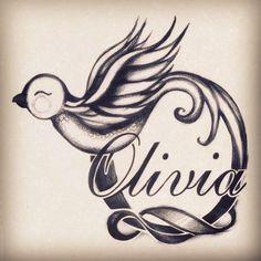 Bird tattoo - Olivia