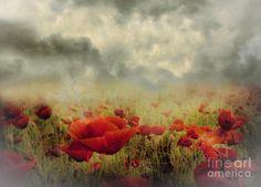 Poppies From Heaven - Vintage Mixed Media by Zeana Romanovna