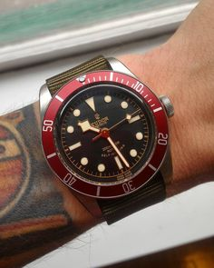 Tudor Black Bay, red version | (via jmastinef)