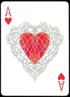Ace of Hearts Playing Cards Art, Vintage Playing Cards, Ace Of Hearts, Deck Of Cards, Card Deck, Tarot Cards, Alice In Wonderland, Pin Up, Lettering