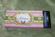 Candy Bar Wrapper, Ghiradelli, Stampin'Up! Butterfly stamp and punch!