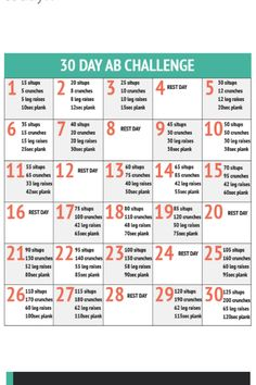 Great 30-day ab workout routine! Click on the pin to see some more great workout routines @ Fitimize.com