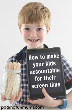 How to make your kids accountable for their screen time