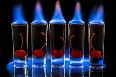 How To make A Flaming Sambuca Shot Vodka Cocktails, Easy Cocktails, Cocktail Drinks, Alcoholic Drinks, Beverages, Shots Drinks, Zombie Cocktail, Bar Drinks, Cocktail Recipes