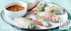 Probeer deze gezonde loempia's eens van rijstvellen gevuld met groente, omelet en noedels. Incl video!