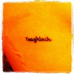 Rib tattoo. Teaglach-- family in Gaelic