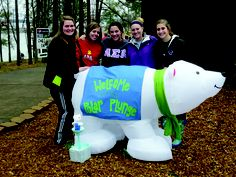 Members of Alpha Sigma Alpha pose at the 2012 Polar Bear Plunge. They are currently raising funds for the 2013 plunge.  This is me!    I'M ON PINTEREST!!!!!!!! #FAMOUS