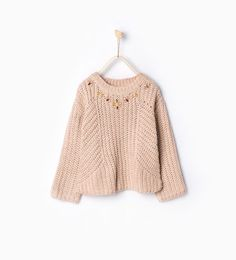 Image 1 of Diamanté sweater from Zara