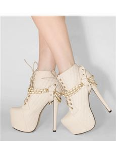 Multi-way Platform Stiletto Heels Pointed Toe Women Boot With Bowknot