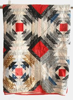 Blanket quilt patchwork pillow rug carpet handmade by pieceshop, $87.00
