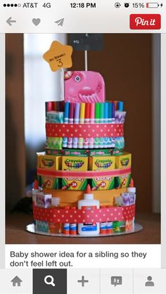 Diaper cake for sibling