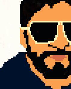 Pixelated self potrait