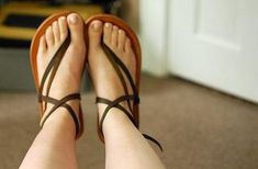 Make your own running sandals --- hmm i bet mind wouldn't look like that :p