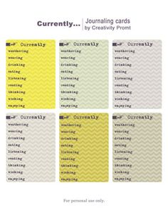 Free Journaling Labels from creativity prompt