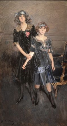 The Athenaeum - Consuelo and Muriel Vanderbilt (Giovanni Boldini - )
