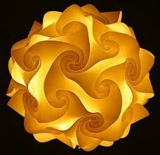 How to Make an IQ lamp / jigsaw lamp from scratch DIY tutorial - Recycled, Paper & Cardboard crafts Fractal Art, Fractals, Paper Lampshade, Cardboard Crafts, Shades Of Yellow, Happy Colors, Paper Lanterns, Recycled Crafts, Mellow Yellow