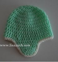baby hat crochet pattern with earflaps