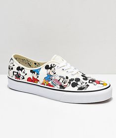 Disney by Vans Authentic Mickey s Birthday True White Skate Shoes Zapatillas  Originales ba1ef1fd8e9