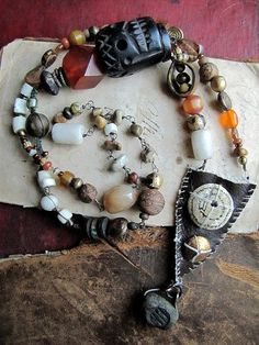 custom order for morgen - talismanic pouch necklace