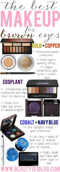 Everything you need to know about the best makeup for brown eyes and which colors look the best. #makeup #beauty #eyeshadow PROMOTIONS Real Techniques brushes makeup -$10 http://youtu.be/rsdio0EoCPQ #realtechniques #realtechniquesbrushes #makeup #makeupbrushes #makeupartist #makeupeye #eyemakeup #makeupeyes