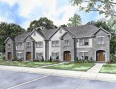 Four Unit House Plan - 59796ND | 2nd Floor Master Suite, CAD Available, PDF | Architectural Designs