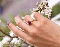 Real Ruby engagement ring with fine natural diamonds. created with care for a special person. Gem Diamonds, Natural Diamonds, Natural Ruby, Special Person, Promise Rings, Solid Gold, Proposal, Engagement Rings, Gemstones