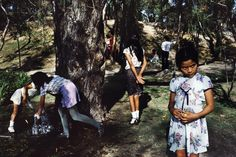 Alex Webb. Mexico City. 1984. Children playing in Chapultapec Park
