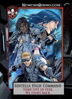 Final version of the League: Nemesis Rising Sentella High Command poster