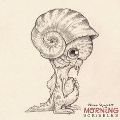 Nautilus Helmet.  #morningscribbles