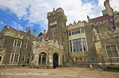 Exterior of the Casa Loma, medieval style castle completed in 1914 in the city of Toronto