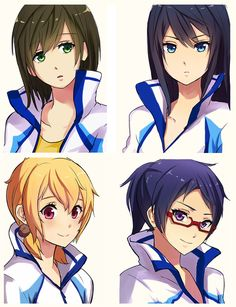 Free! Iwatobi Swim Club Gender Bender <<<<<<<<< I've been wanting to see this anime, and this makes me want to watch Free! even more!