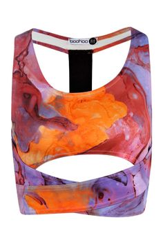 Ania Marble Print Sports Crop alternative image