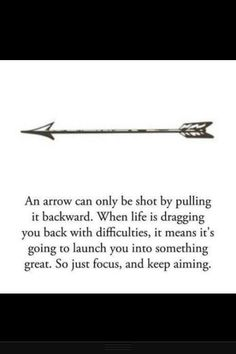 I really wanna get a tattoo with an arrow, they're like a symbol in my life