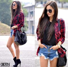 Fall ready ! Love the booties with the plaid