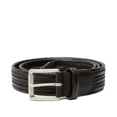 Anderson's Stretch Woven Leather Belt (Black)